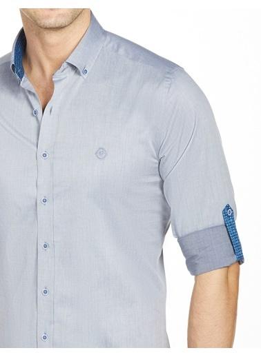 Bisse BGM20Y20309 Uzun Kollu Yaka Düğmeli Slim Fit Spor Gömlek Lacivert